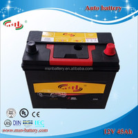 High performance 12V 45AH JIS46B24 MF Auto car Battery