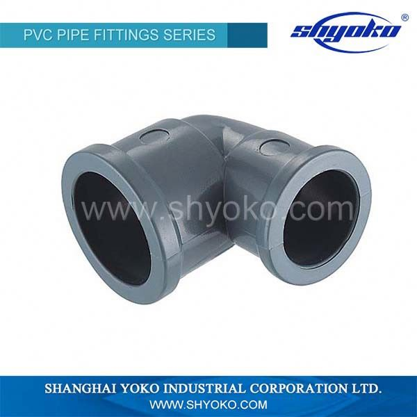 DIN standard pvc pipe fittings pvc 45 degree elbow pipe fitting with rubber