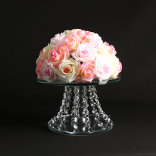 wedding centerpieces crystal cake stand hanging crystals