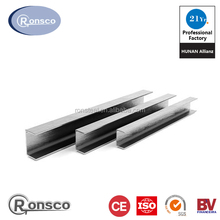 mild stainless steel i beam u-channel size