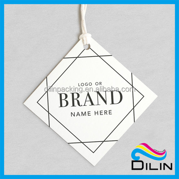 white custom product label paper price tag with string