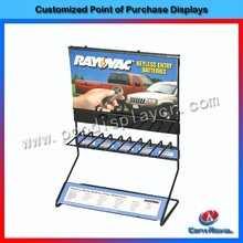 Modern customized metal retail key accessories table top small display rack