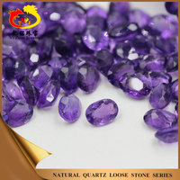 Wholesale facet cut oval shaped natural loose amethyst stone gemstone