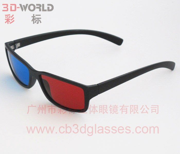 custom high quality 3d plastic glasses with red blue lens
