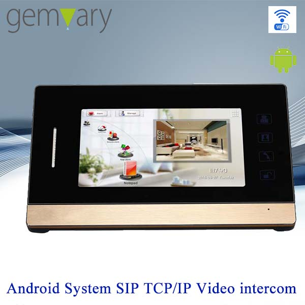 "7"" touch screen digital TCP/IP intercom video door bell wifi"