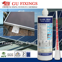 adhesive solar panel anchor for building construction material