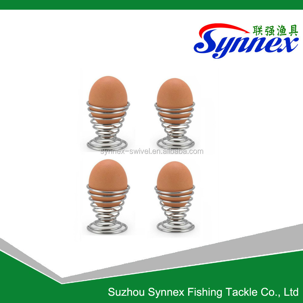Egg Shell Cracker Egg Opener with 6 Piece of Mini Spring Wire Tray Eggs Holder Cup - Stainless Steel