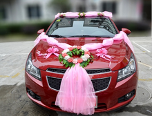 valentines day gift idea artificial flower wedding car decoration