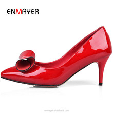 New arrival sexy high heel dacing shoes Korean pointed toe leather women stiletto heel shoes China wholesale women shoes