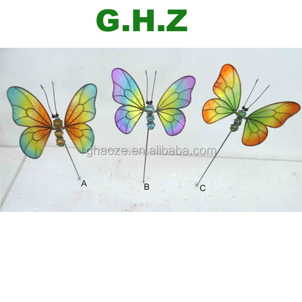 Glow In The Dark Butterfly Metal Outdoor Garden Decorations Butterfly Factory