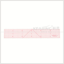 "Kearing Brand 1""*6"" sandwich line printing clear plastic Fabric garment using pattern grading ruler #B-50"