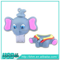 Cuctomized elephant promotional USB for kids ,Best Selling USB,external usb dvd-rom for wii