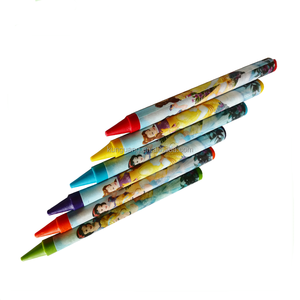 clear colors wax crayon as gift for kids