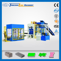 QT10-15 concrete curb and paving stone forming machine