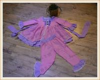 fancy dress competition for kids girl boutique clothes fall/winter pink long sleeve set