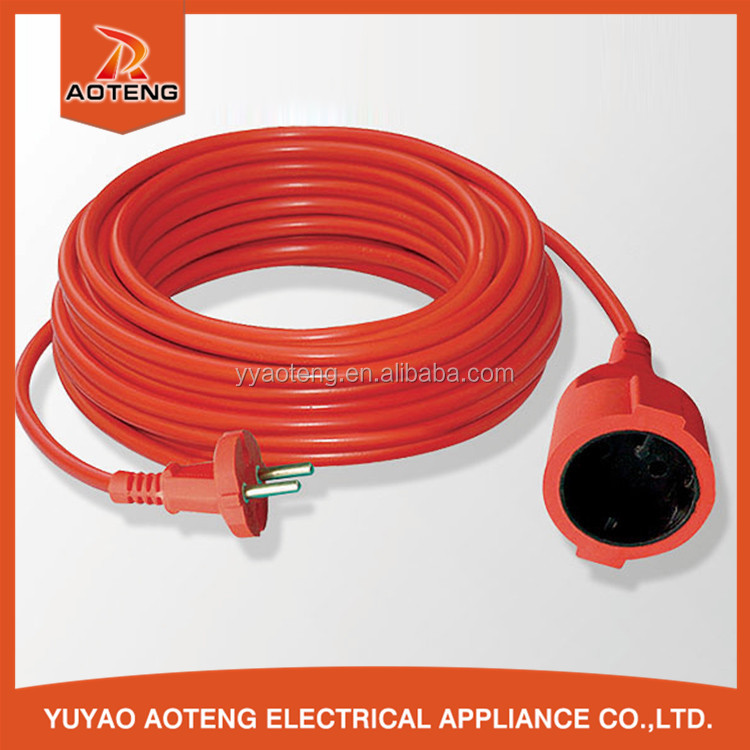 EU female and male 16A 250V VDE certificate 15M 20M 50M 100M power extension cable