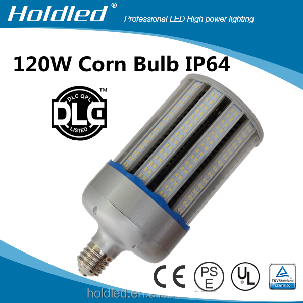 120w 360 degree led corn light bulb dlc ul cul listed with clear PC cover