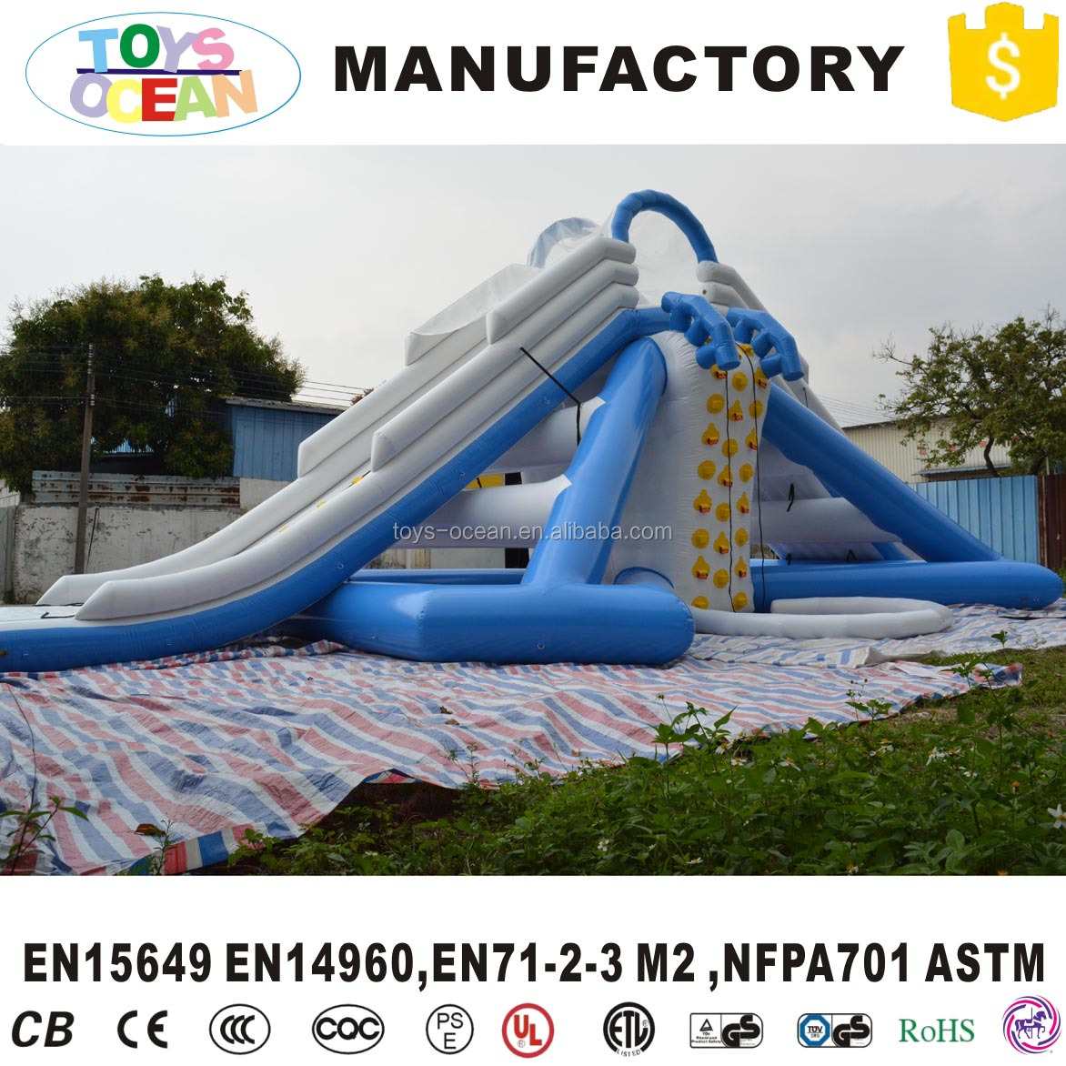 Airtight Inflatable water park water slide for adult
