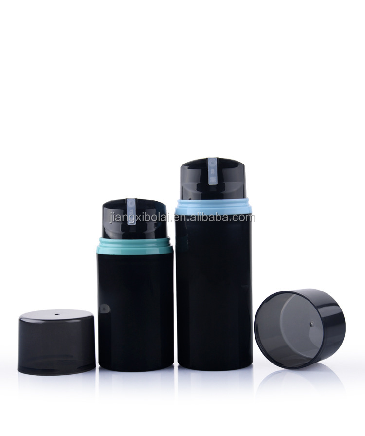 China supplier plastic black airless spray pump bottle for cosmetic 30ml,50ml
