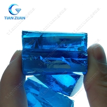 uncut blue color topaz raw rough material for luxury gemstone making