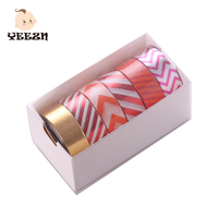 Bright Elegant Grid Decotative Paper Japanese Washi Masking Tape Wholesale For Scrapbooking