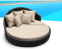 Outdoor Patio Wicker Furniture Pool Lounge All Weather Garden Round Double Bed Set