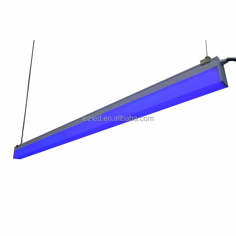 new design IP65 waterproof led suspended linear light / led linkable plastic pendant strip light