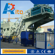 private customer set hzsy75 mobile concrete batch plant