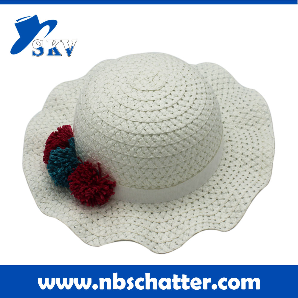 Cheap Summer Fashion children girls Straw Hats with Bowknot for Beach Travel Gifts