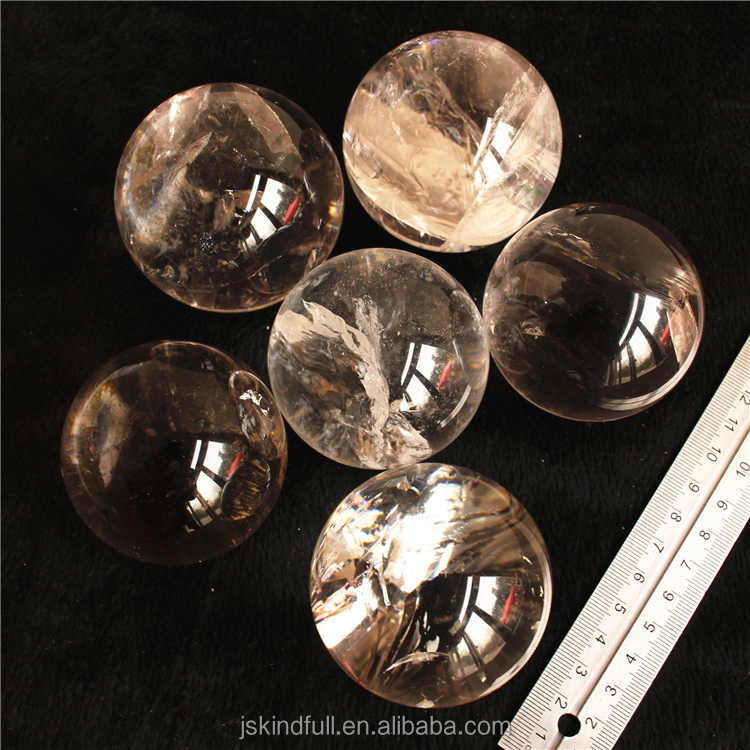 Natural Rock clear qaurtz crystal balls magic rock quartz crystal spheres