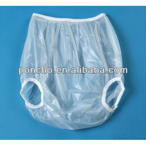 diaper cover for adult/waterproof adult pants/adult size plastic pants