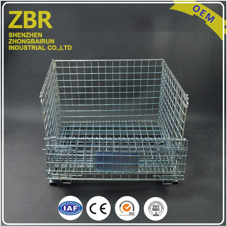 China Famous Stackable Cage Steel Shipping Mesh Wire Container