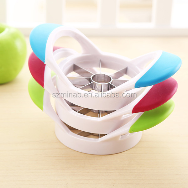Hot Selling High Quality Plastic Handle Apple Cutter Stainless Steel Apple Peeler Corer Slicer