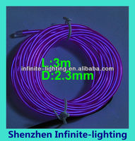 Colorful purple el wire high brightness/purple EL Cable / EL Neon Wire