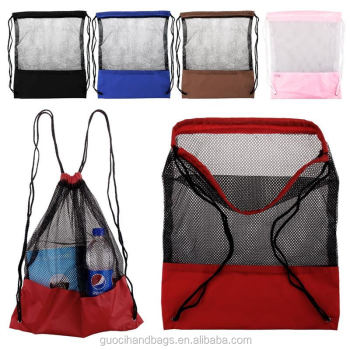 Hot sale Promotional mesh drawstring backpack bag for wholesale