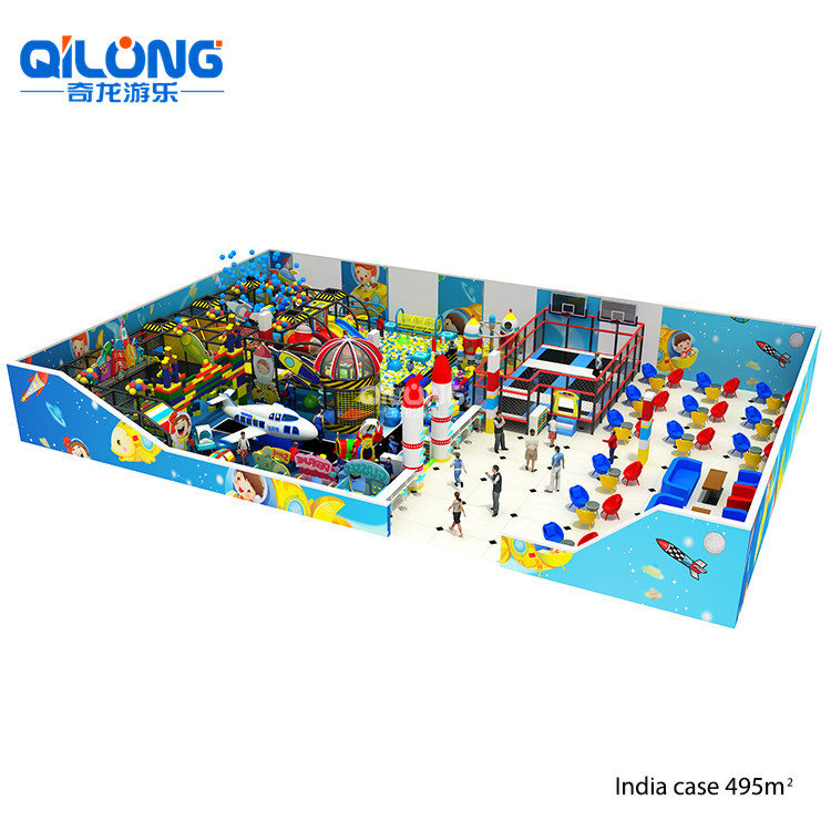Space Theme Amusement Park Playland Indoor Playground Equipment For Kids