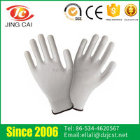 Wholesale Anti-slip Nylon Lining 24g Safety PU Glove for Industrial work/touch screen gloves