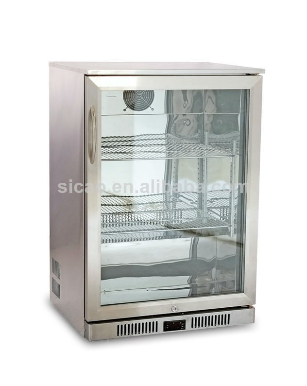 2017 Trending Products Stainless Steel Material Glass Door Display showcase Fridge