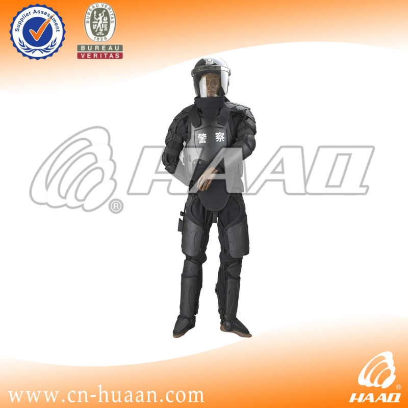 Police anti-riot equipment suit helmet shield
