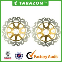 Racing Bike 300mm Front Floating Wave Brake Disc Rotor For Kawasaki ZXR400 ZR750