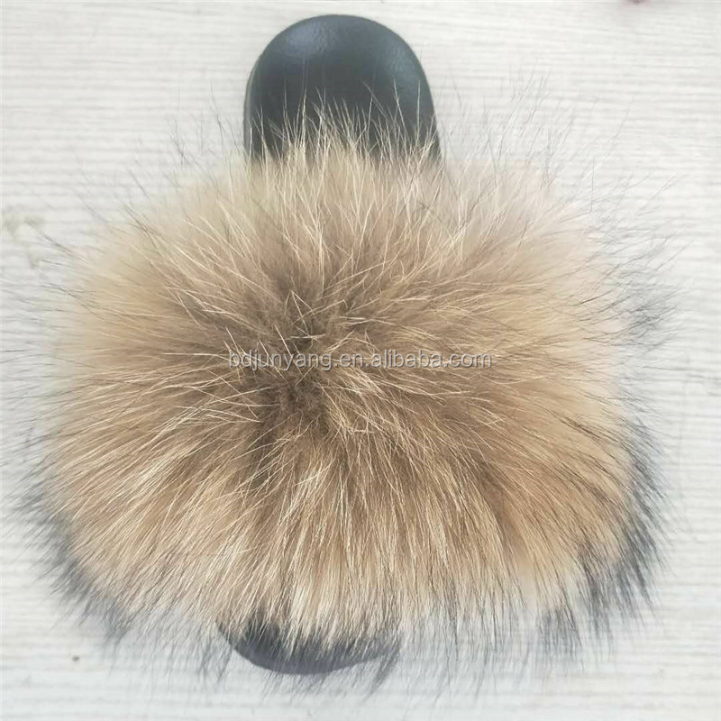 fur slippers slides women fur slides shoes