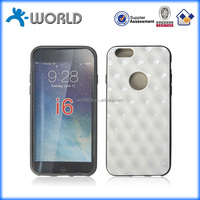 2014 New wholesale price factory white diamond tpu case for iphone 6 4.7""