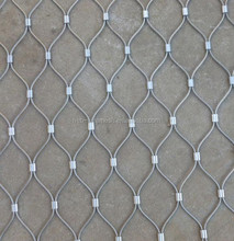 7*7 stainless steel bird cage wire rope weave mesh