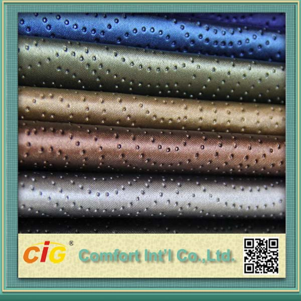 quality stain resistance pleather with dots