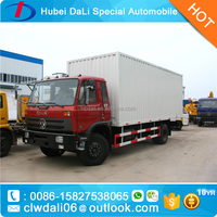 2 axels 6 wheels big box van truck DONGFENG brand 4*2 10ton