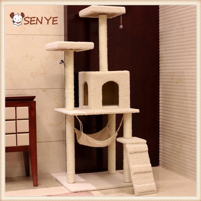 Rack Toy Pet Climbing Frame Scratch Board Cat Tree Litter Jumping Tower Climbing Cat Wood House