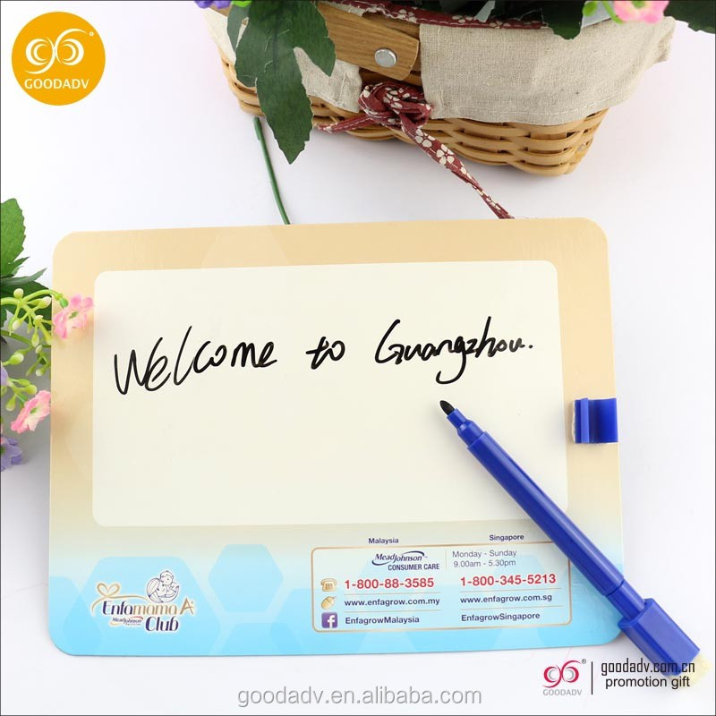 Promotion dry eraser writing board custom fridge magnet writing board with pen