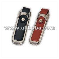 Leather USB flash drive, pen thumb drive (black colour)