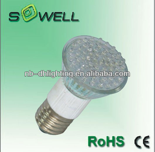 JCDR 60SMD E27 110V/230V 3W glass material led spots lamps