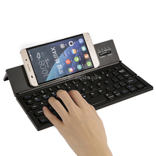 Mini Universal wireless Keyboard With Aluminum Hard Shell Case Foldable Keyboard
